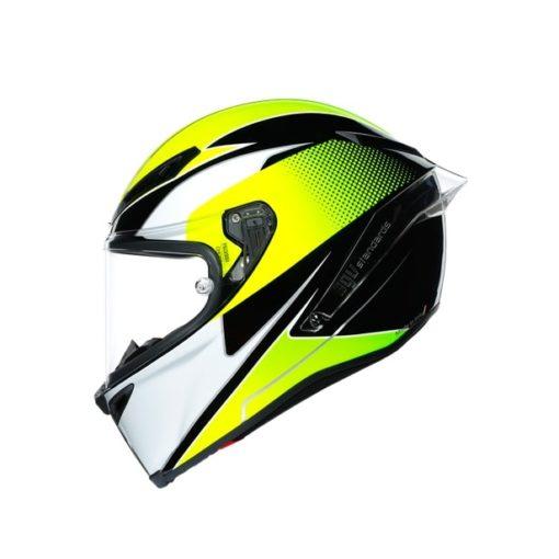 AGV CORSA R E2205 Multi SuperSport Gloss Black White Lime Full Face Helmet 4