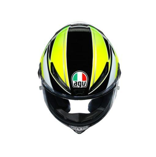 AGV CORSA R E2205 Multi SuperSport Gloss Black White Lime Full Face Helmet 5
