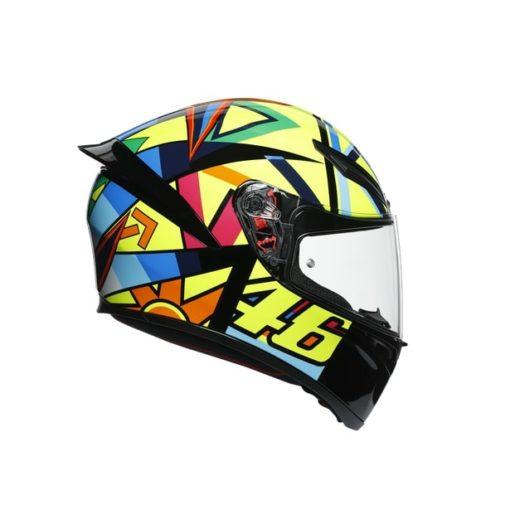 AGV K1 Top Soleluna 2017 Gloss Black Yellow Full Face Helmet 2