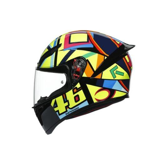 AGV K1 Top Soleluna 2017 Gloss Black Yellow Full Face Helmet 3