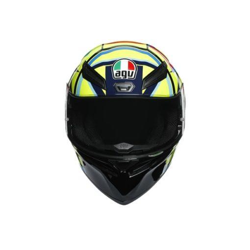 AGV K1 Top Soleluna 2017 Gloss Black Yellow Full Face Helmet 4
