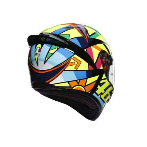 AGV K1 Top Soleluna 2017 Gloss Black Yellow Full Face Helmet 5