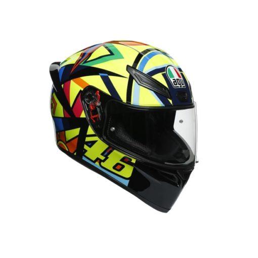 AGV K1 Top Soleluna 2017 Gloss Black Yellow Full Face Helmet