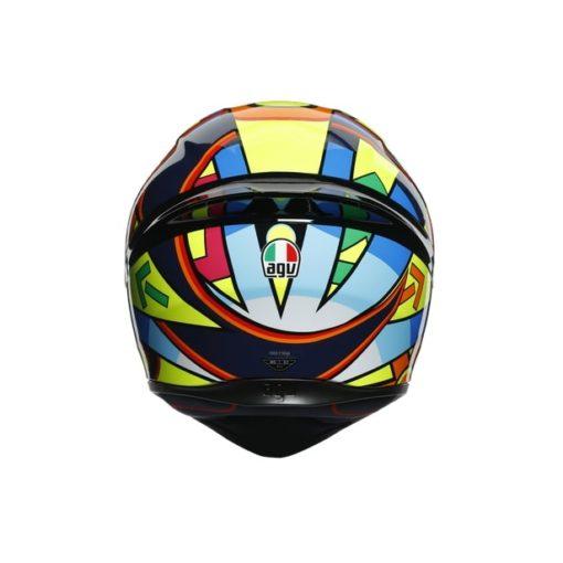 AGV K1 Top Soleluna 2017 Gloss Black Yellow Full Face Helmet 6