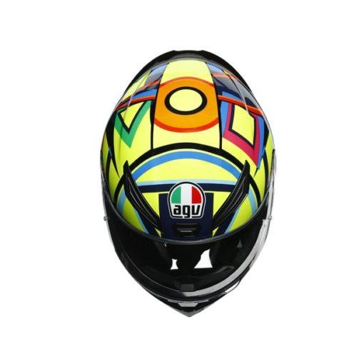 AGV K1 Top Soleluna 2017 Gloss Black Yellow Full Face Helmet 7