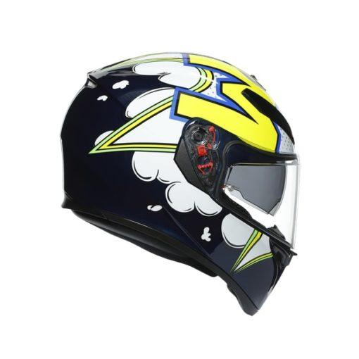 AGV K3SV Multi MPLK Gloss Bubble Blue White Fluorescent Yellow Full Face Helmet 2