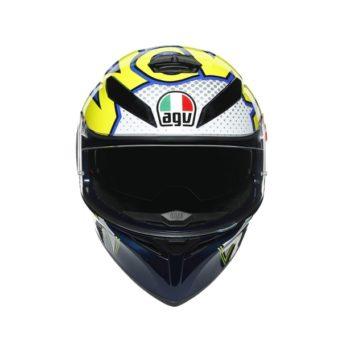 AGV K3SV Multi MPLK Gloss Bubble Blue White Fluorescent Yellow Full Face Helmet 4