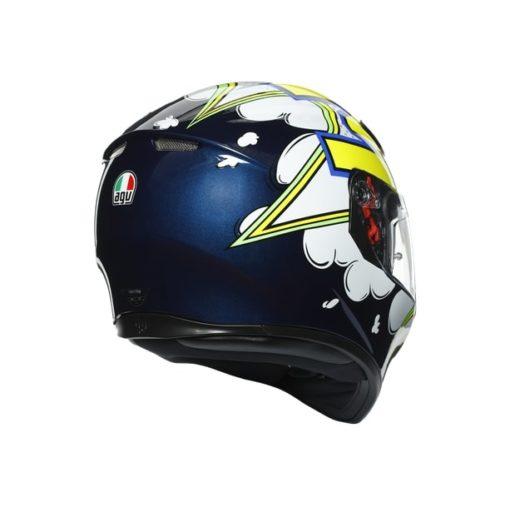 AGV K3SV Multi MPLK Gloss Bubble Blue White Fluorescent Yellow Full Face Helmet 5
