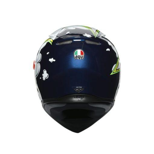 AGV K3SV Multi MPLK Gloss Bubble Blue White Fluorescent Yellow Full Face Helmet 6