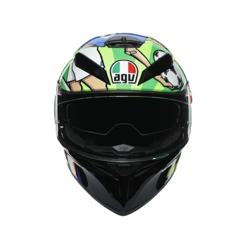 AGV K3SV Top MPLK Rossi Mugello 2017 Gloss Black Green Full Face Helmet 4