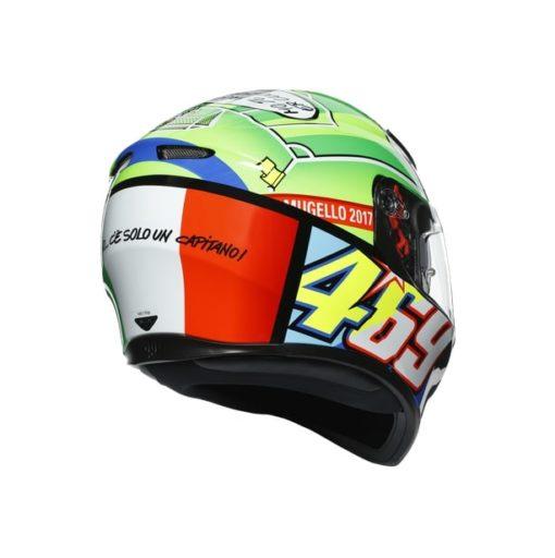 AGV K3SV Top MPLK Rossi Mugello 2017 Gloss Black Green Full Face Helmet 5