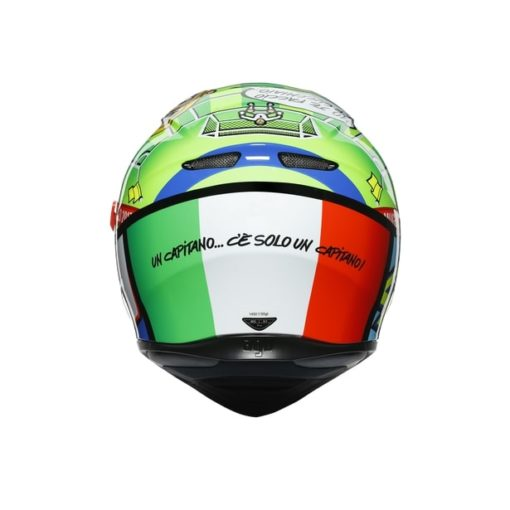 AGV K3SV Top MPLK Rossi Mugello 2017 Gloss Black Green Full Face Helmet 6