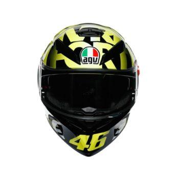 AGV K3SV Top MPLK Tribe 46 Gloss Black Yellow Full Face Helmet 3