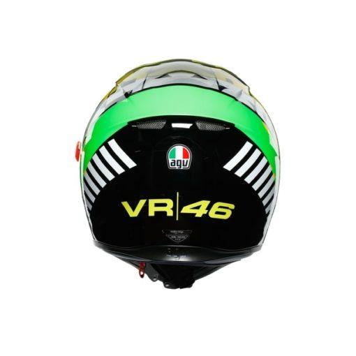 AGV K3SV Top MPLK Tribe 46 Gloss Black Yellow Full Face Helmet 5
