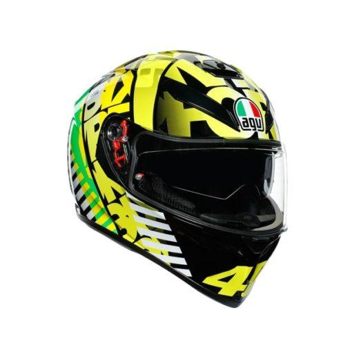 AGV K3SV Top MPLK Tribe 46 Gloss Black Yellow Full Face Helmet