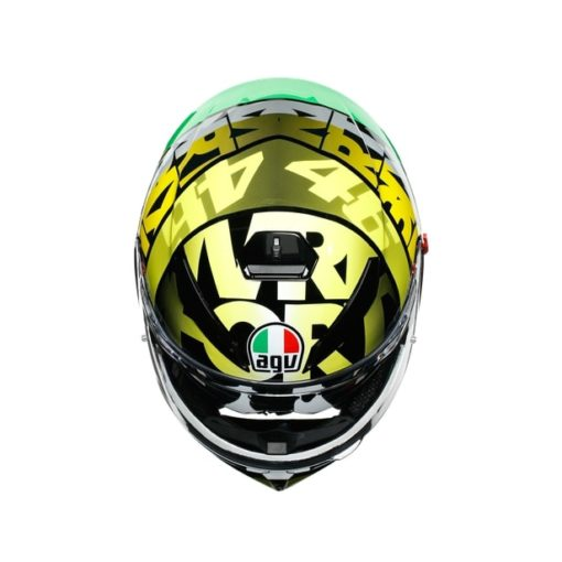 AGV K3SV Top MPLK Tribe 46 Gloss Black Yellow Full Face Helmet 7