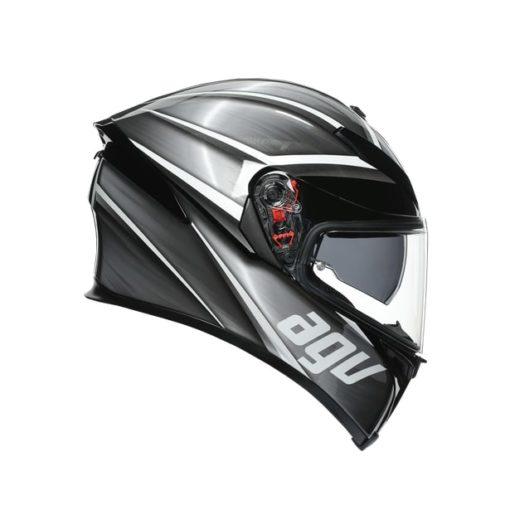 AGV K5S Multi MPLK Gloss Tempest Black Silver Full Face Helmet 2