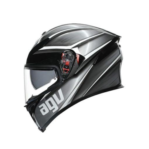 AGV K5S Multi MPLK Gloss Tempest Black Silver Full Face Helmet 3