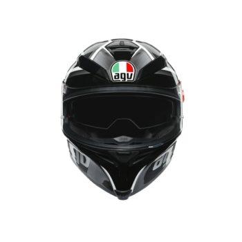 AGV K5S Multi MPLK Gloss Tempest Black Silver Full Face Helmet 4