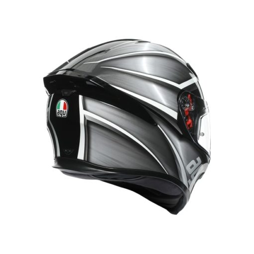 AGV K5S Multi MPLK Gloss Tempest Black Silver Full Face Helmet 5