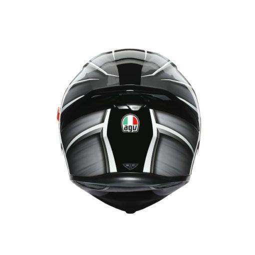 AGV K5S Multi MPLK Gloss Tempest Black Silver Full Face Helmet 6