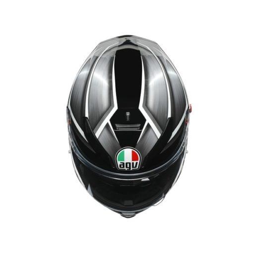 AGV K5S Multi MPLK Gloss Tempest Black Silver Full Face Helmet 7