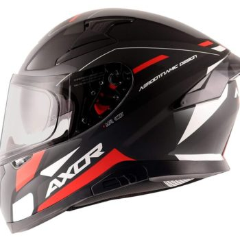 AXOR APEX Turbine Gloss Black Red Grey Full Face Helmet 3