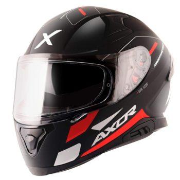 AXOR APEX Turbine Gloss Black Red Grey Full Face Helmet