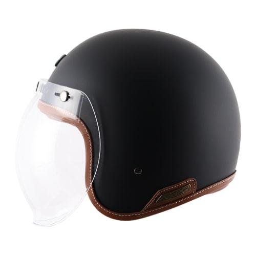 AXOR JET Leather Gloss Dull Slate Open Face Helmet 3