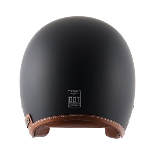 AXOR JET Leather Gloss Dull Slate Open Face Helmet 4