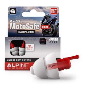 Alpine Hearing Protection Earplugs Motosafe Race