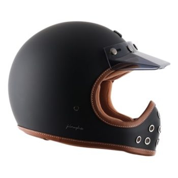 Axor RETRO MOTO X Matt Black Full Face Helmet 3