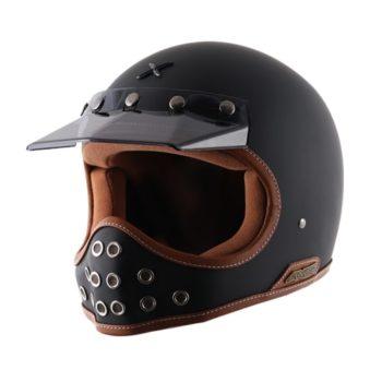 Axor RETRO MOTO X Matt Black Full Face Helmet