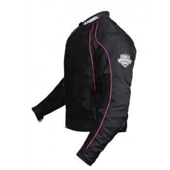 BBG Lady Angel Black Pink Riding Jacket