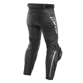 Dainese Delta 3 ST Leather Black White Riding Pants