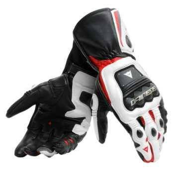Dainese Steel Pro Black White Red Riding Gloves
