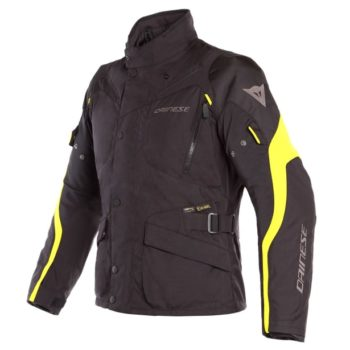 Dainese Tempest 2 D Dry Black Fluorescent Yellow Riding Jacket