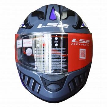 LS2 FF320 Badas Gloss Black Blue Full Face Helmet 1