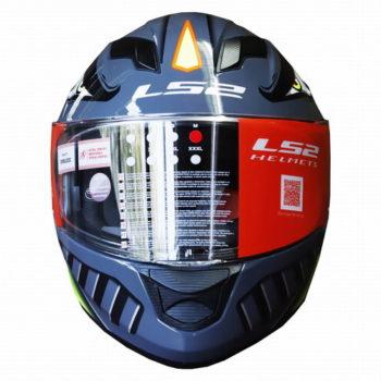 LS2 FF320 Badas Gloss Black Fluorescent Yellow Full Face Helmet 1