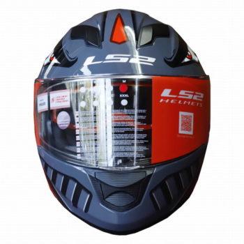 LS2 FF320 Badas Gloss Black Red Full Face Helmet 1