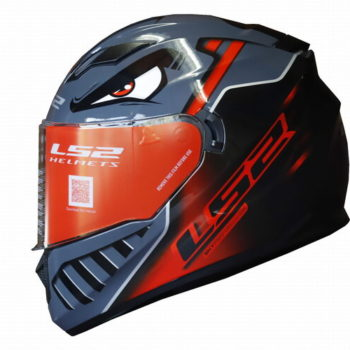 LS2 FF320 Badas Gloss Black Red Full Face Helmet