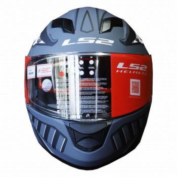 LS2 FF320 Badas Matt Black Grey Full Face Helmet 1
