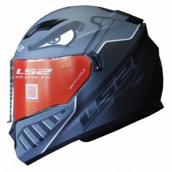 LS2 FF320 Badas Matt Black Grey Full Face Helmet