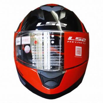 LS2 FF320 Exo Gloss Black Red Full Face Helmet 1