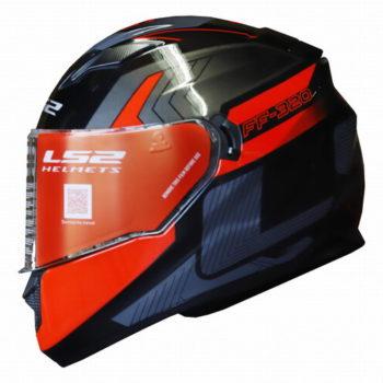 LS2 FF320 Exo Gloss Black Red Full Face Helmet