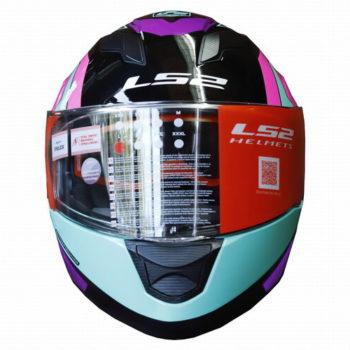 LS2 FF320 Exo Gloss Black Turquoise Full Face Helmet 1