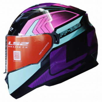 LS2 FF320 Exo Gloss Black Turquoise Full Face Helmet