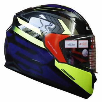 LS2 FF320 Exo Matt Black Fluorescent Yellow Full Face Helmet 3
