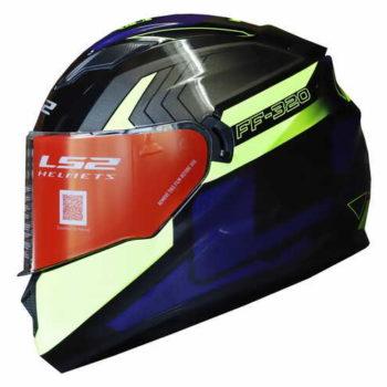 LS2 FF320 Exo Matt Black Fluorescent Yellow Full Face Helmet