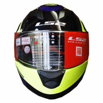 LS2 FF320 Exo Matt Black Fluorescent Yellow Full Face Helmet 4